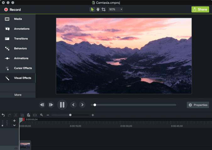 Camtasia Studio это программа для записи с экрана и видеоредактор